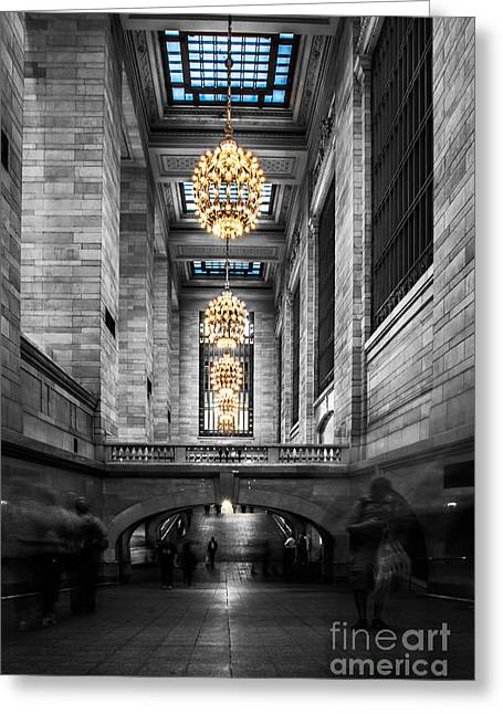 Hannes Cmarits Greeting Cards - Grand Central Station III ck Greeting Card by Hannes Cmarits