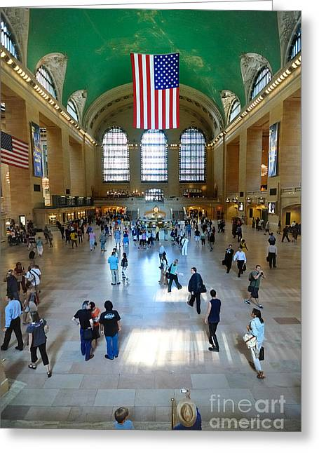 Subway Greeting Cards - Grand Central Station New York city Greeting Card by Amy Cicconi