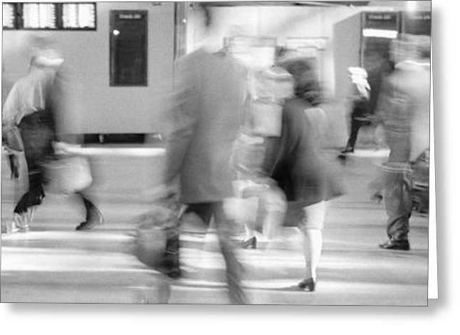 Hurry Greeting Cards - Grand Central Station, Nyc, New York Greeting Card by Panoramic Images