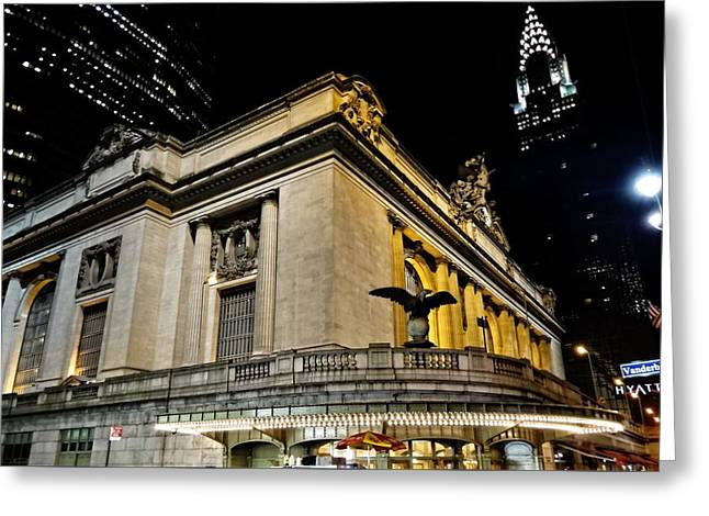 Grand Central Terminal At Night Greeting Card by Dan Sproul