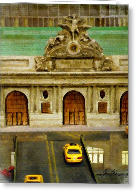 Union Square Paintings Greeting Cards - Grand Central Terminal  NYC Greeting Card by Joan Reese