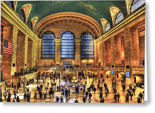 Iconic Places Greeting Cards - Grand Central Terminal Greeting Card by Randy Aveille