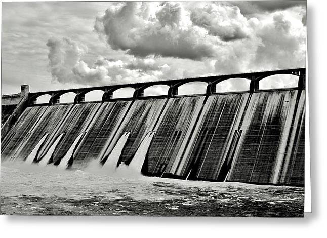 Power Plants Greeting Cards - Grand Coulee Dam Greeting Card by Benjamin Yeager