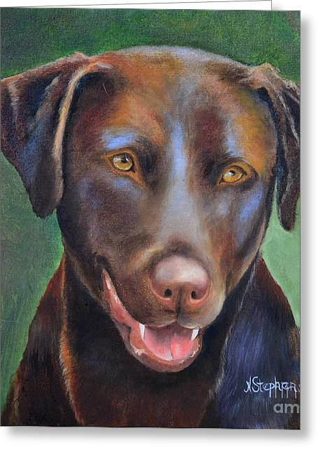 Chocolate Lab Greeting Cards - Grand Dog Greeting Card by Nina Stephens