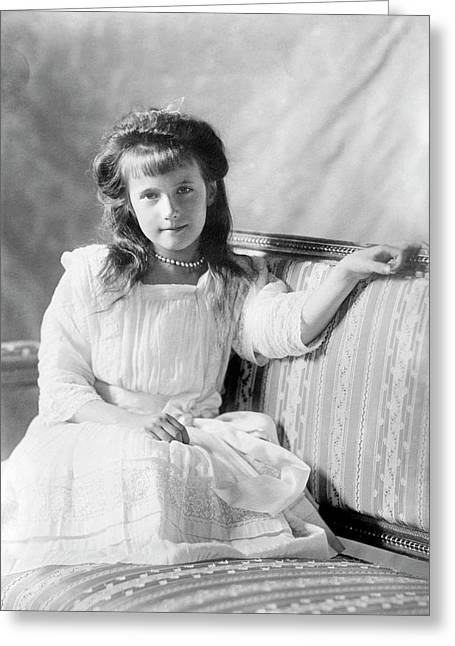 Grand Duchess Anastasia Of Russia Greeting Card by Library Of Congress