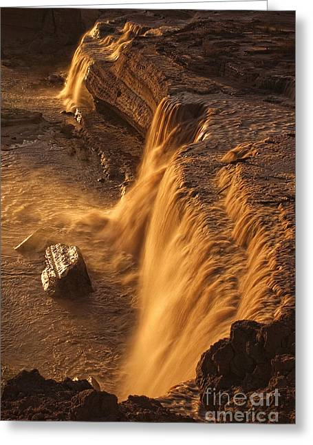 A Summer Evening Greeting Cards - Grand Falls Greeting Card by Priscilla Burgers