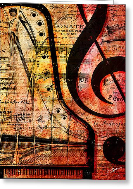 Piano Digital Art Greeting Cards - Grand Fathers Greeting Card by Gary Bodnar