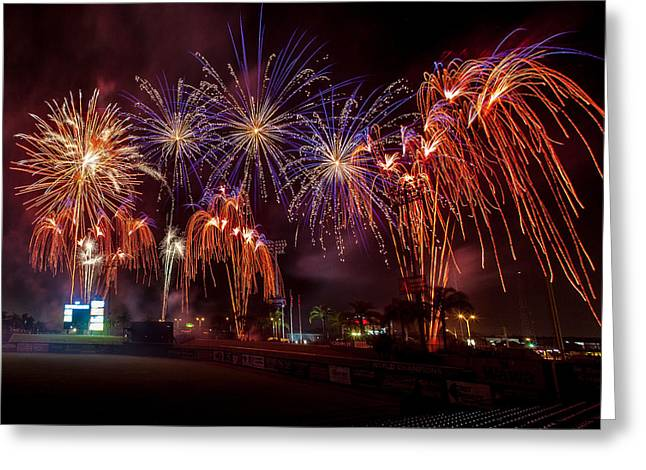 Brighthouse Field Greeting Cards - Grand Finale Greeting Card by Jeff Donald