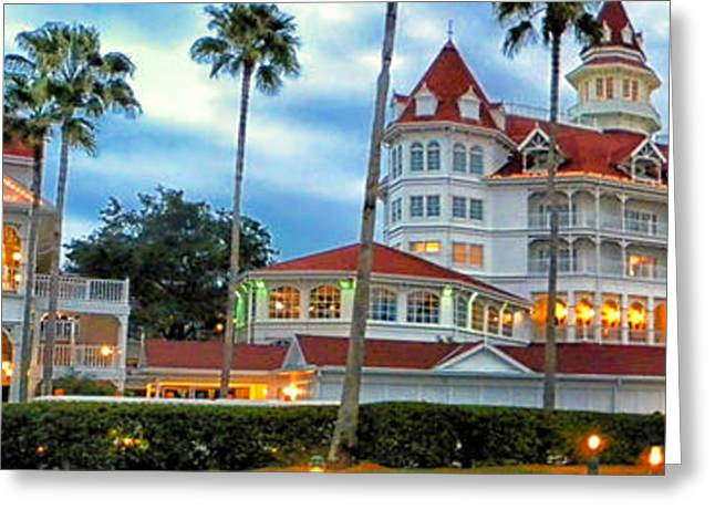 Photography By Tom Woolworth Greeting Cards - Grand Floridian Resort Walt Disney World Greeting Card by Thomas Woolworth