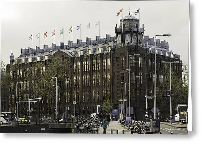 Het Greeting Cards - Grand Hotel Amrath Amsterdam Greeting Card by Teresa Mucha