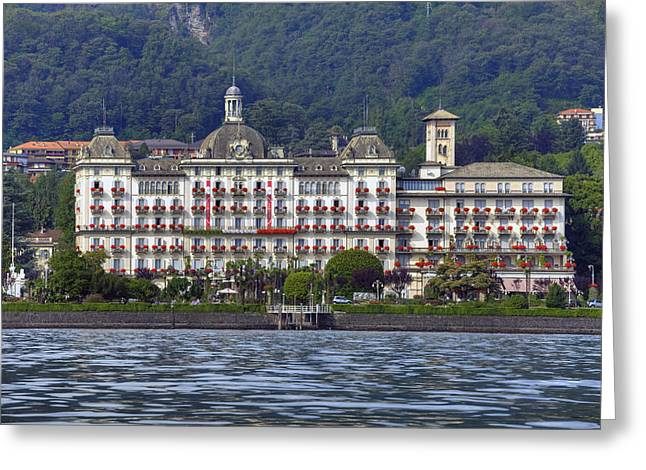 Grand Hotel Greeting Cards - Grand Hotel des Iles Borromees Greeting Card by Joana Kruse