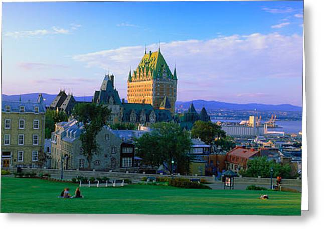 Chateau Greeting Cards - Grand Hotel In A City, Chateau Greeting Card by Panoramic Images
