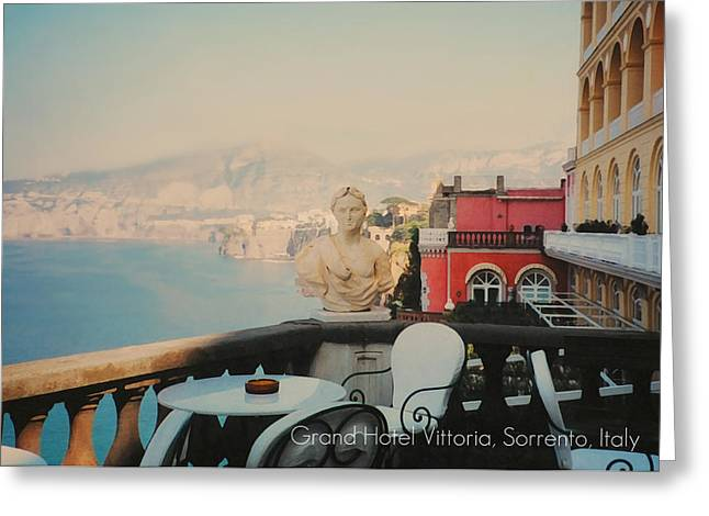 Southern Italy Greeting Cards - Grand Hotel Vittoria Greeting Card by Diana Angstadt