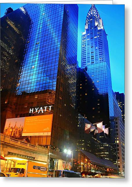 Hyatt Hotel Greeting Cards - Grand Hyatt Greeting Card by Diana Angstadt