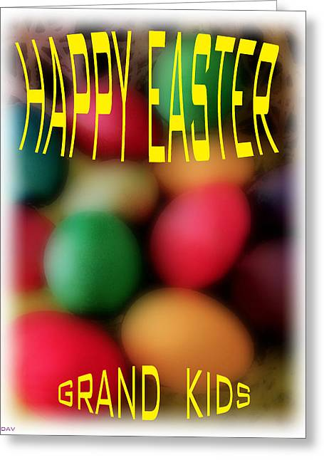 Religious Mixed Media Greeting Cards - Grand Kids Easter Card Greeting Card by Debra     Vatalaro