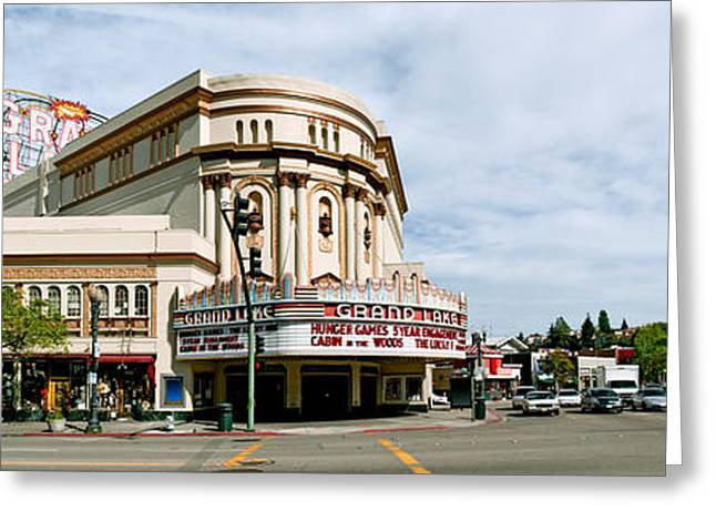 Movie Theater Greeting Cards - Grand Lake Theater In Oakland Greeting Card by Panoramic Images