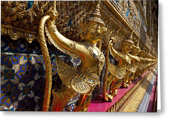 Wall Sculpture Sculptures Greeting Cards - Grand Palace 1 Greeting Card by Alexey Stiop
