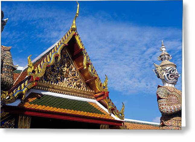 Tile Roof Greeting Cards - Grand Palace, Bangkok, Thailand Greeting Card by Panoramic Images