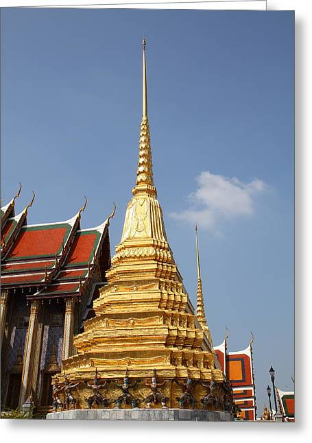 Palace Greeting Cards - Grand Palace in Bangkok Thailand - 011314 Greeting Card by DC Photographer