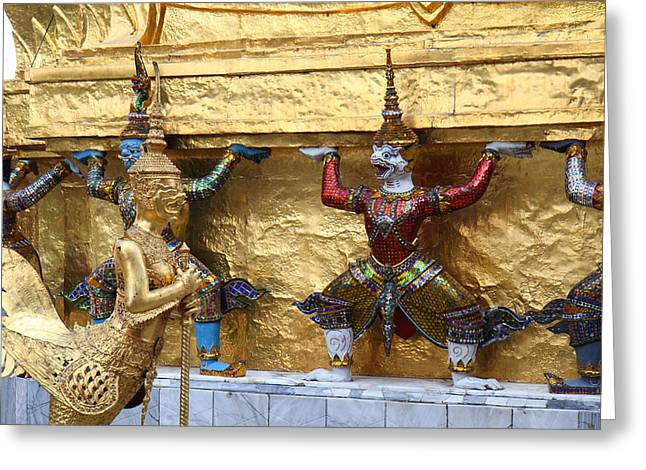 Bangkok Greeting Cards - Grand Palace in Bangkok Thailand - 011326 Greeting Card by DC Photographer