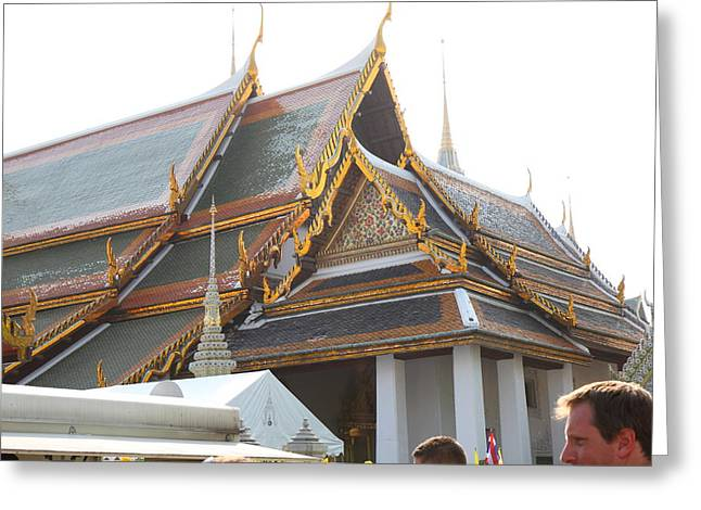 Palace Greeting Cards - Grand Palace in Bangkok Thailand - 011334 Greeting Card by DC Photographer