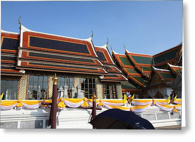 Palace Greeting Cards - Grand Palace in Bangkok Thailand - 011337 Greeting Card by DC Photographer