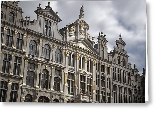 Guild Greeting Cards - Grand Place Detail Greeting Card by Joan Carroll