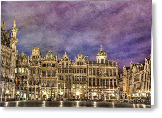 Open Market Greeting Cards - Grand Place Greeting Card by Juli Scalzi