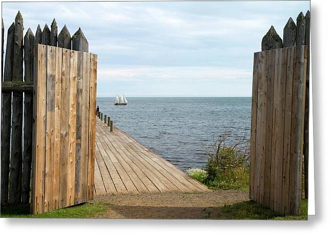 Grand Portage Footpath With A Replica Greeting Card by David R. Frazier