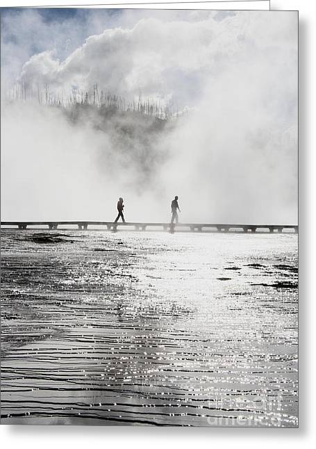 Hot Springs Yellowstone Midway Hot Springs Yellowstone Hot Greeting Cards - Grand Prismatic Forty Greeting Card by Donald Sewell