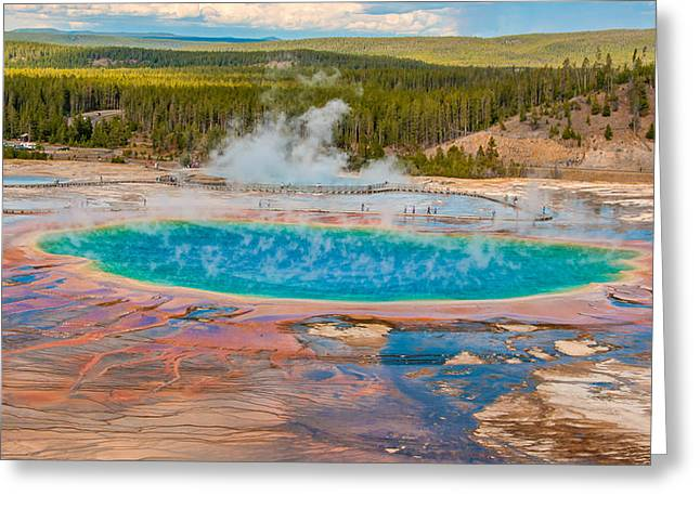 Grand Prismatic Spring Greeting Card by Brenda Jacobs