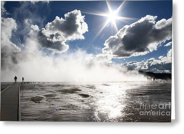 Grand Prismatic Spring Sunstar Thirty Five Greeting Card by Donald Sewell