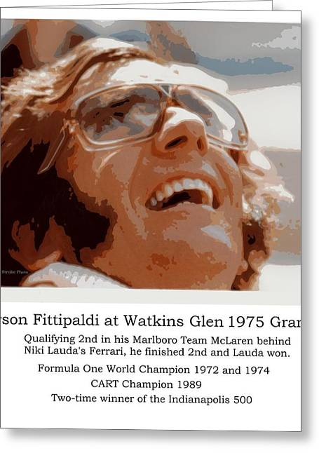 Indy Car Greeting Cards - Grand Prix Champion Emerson Fittipaldi Greeting Card by Don Struke