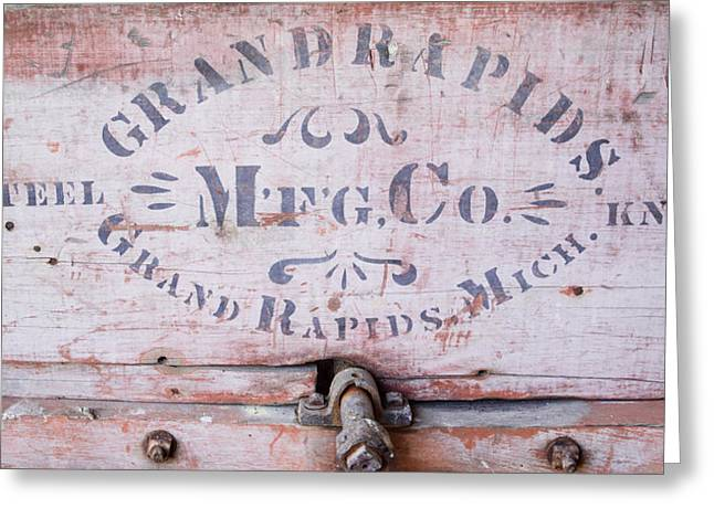 Grand Memories Greeting Cards - Grand Rapids Mfg Co Steel Knife Greeting Card by Douglas Barnett