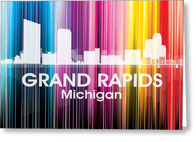 Rapids Mixed Media Greeting Cards - Grand Rapids MI 2 Greeting Card by Angelina Vick