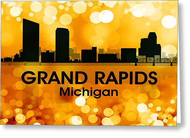 Rapids Mixed Media Greeting Cards - Grand Rapids MI 3 Greeting Card by Angelina Vick