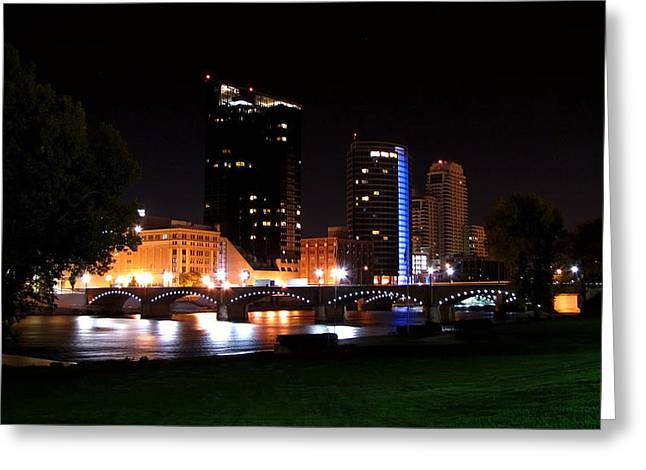Grand River Greeting Cards - Grand Rapids Michigan Charm Greeting Card by Debra  Miller