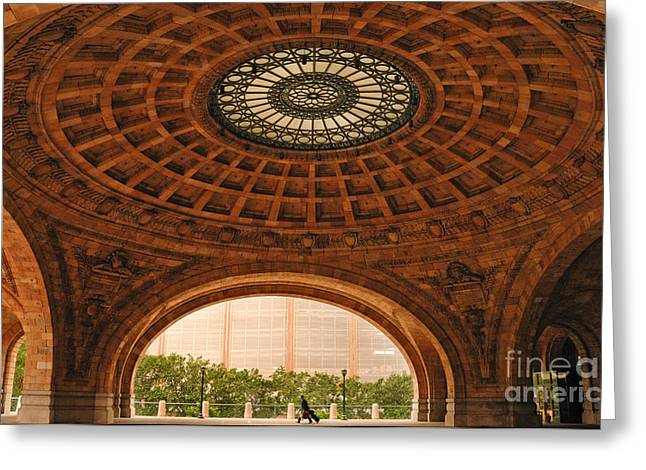 Apartment Greeting Cards - Grand Rotunda Pennsylvanian PIttsburgh Greeting Card by Amy Cicconi