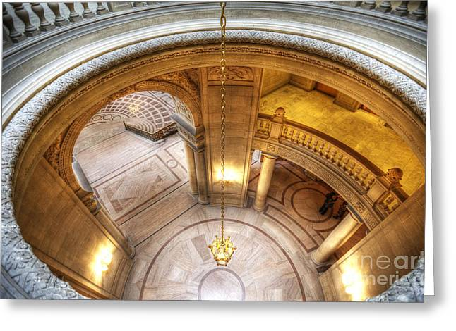 Grand Staircase Entrance Greeting Card by David Bearden