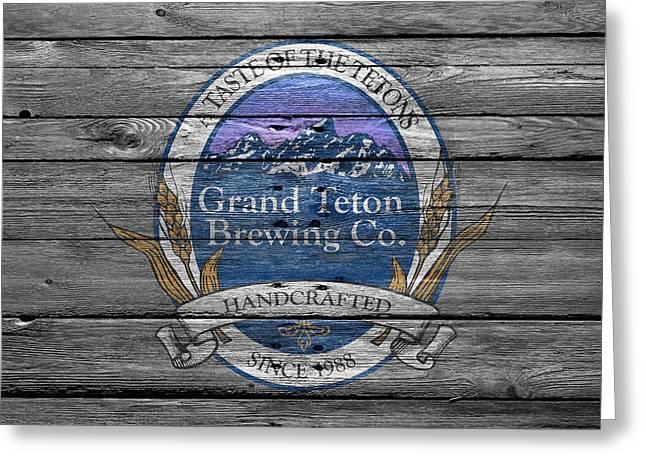 Saloons Greeting Cards - Grand Teton Brewing Greeting Card by Joe Hamilton