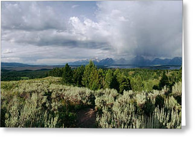 Grand Teton From Signal Mountain, Grand Greeting Card by Panoramic Images