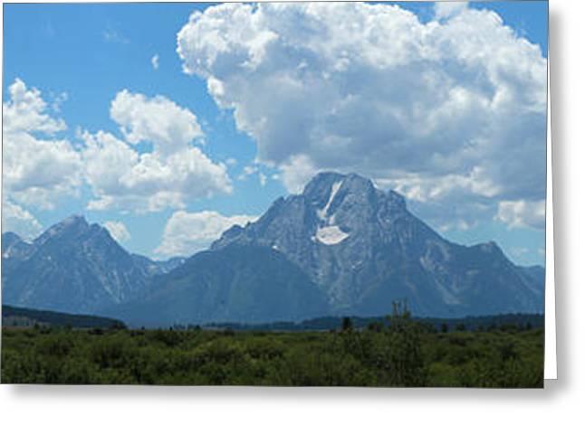 Saw Greeting Cards - Grand Teton Mountain Range Greeting Card by Adam Long