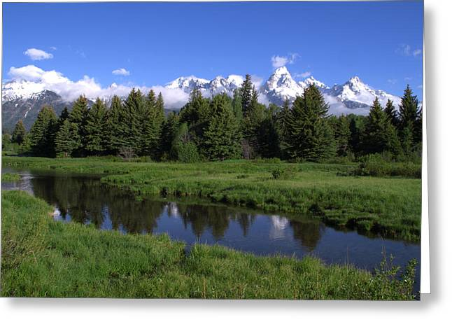 Rocky Mountain National Park Posters Greeting Cards - Grand Teton Reflection Greeting Card by Brian Harig