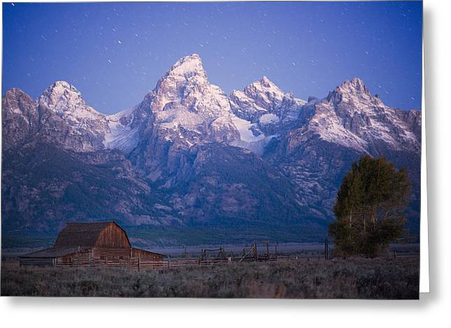 Night Photography Workshop Greeting Cards - Grand Teton Twilight Greeting Card by Mike Berenson