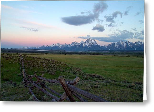 Rocky Mountain National Park Posters Greeting Cards - Grand Tetons Before Sunrise Greeting Card by Brian Harig