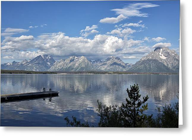Snow Capped Greeting Cards - Grand Tetons in the Morning Light Greeting Card by Belinda Greb