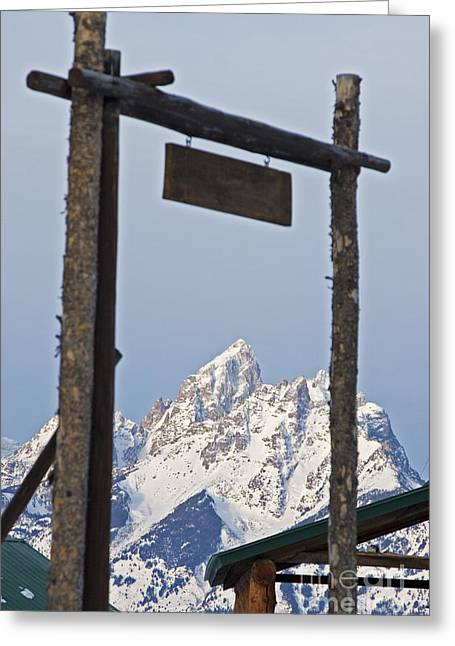Dude Ranch Greeting Cards - Grand Tetons Greeting Card by Jim West