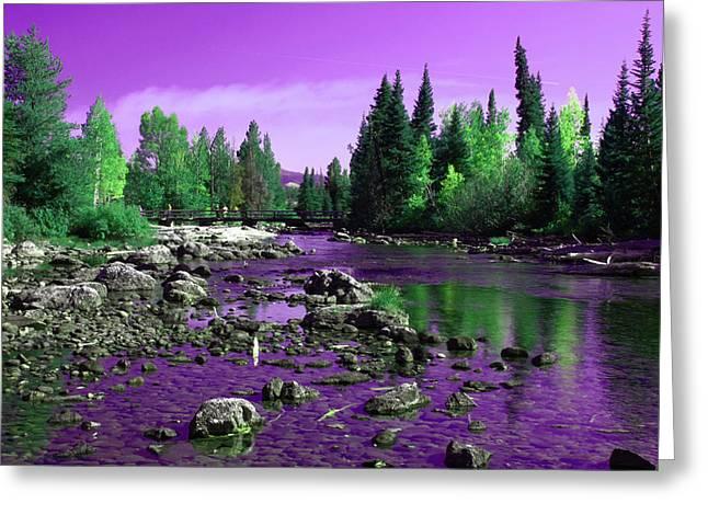 River Scenes Greeting Cards - Grand Tetons National Park  Greeting Card by Aidan Moran