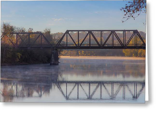 Donna Lee Greeting Cards - Grand Trunk Railroad Bridge Greeting Card by Donna Lee