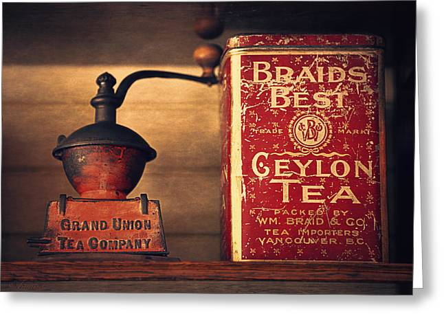 Old Grinders Digital Art Greeting Cards - Grand Union Tea Company Greeting Card by Maria Angelica Maira